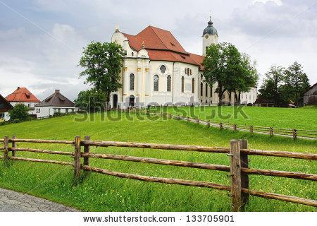 Pilgrimage Church Of Wies Stock Photos, Royalty.