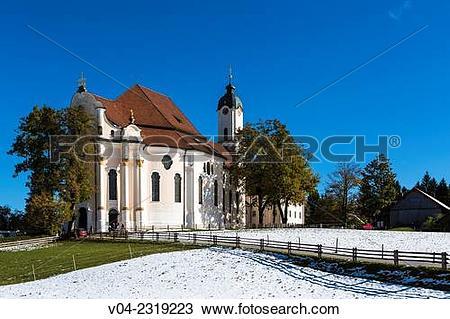 Stock Photo of 18th century Wieskirche (Pilgrimage Church of Wies.