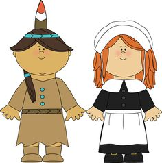 Pilgrim and indian clipart 2 » Clipart Station.