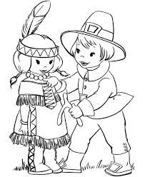 Image result for pilgrim and indian clipart black and white.