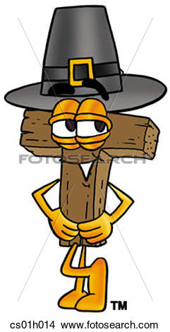 Clipart of Cross pilgrim cs01h014.