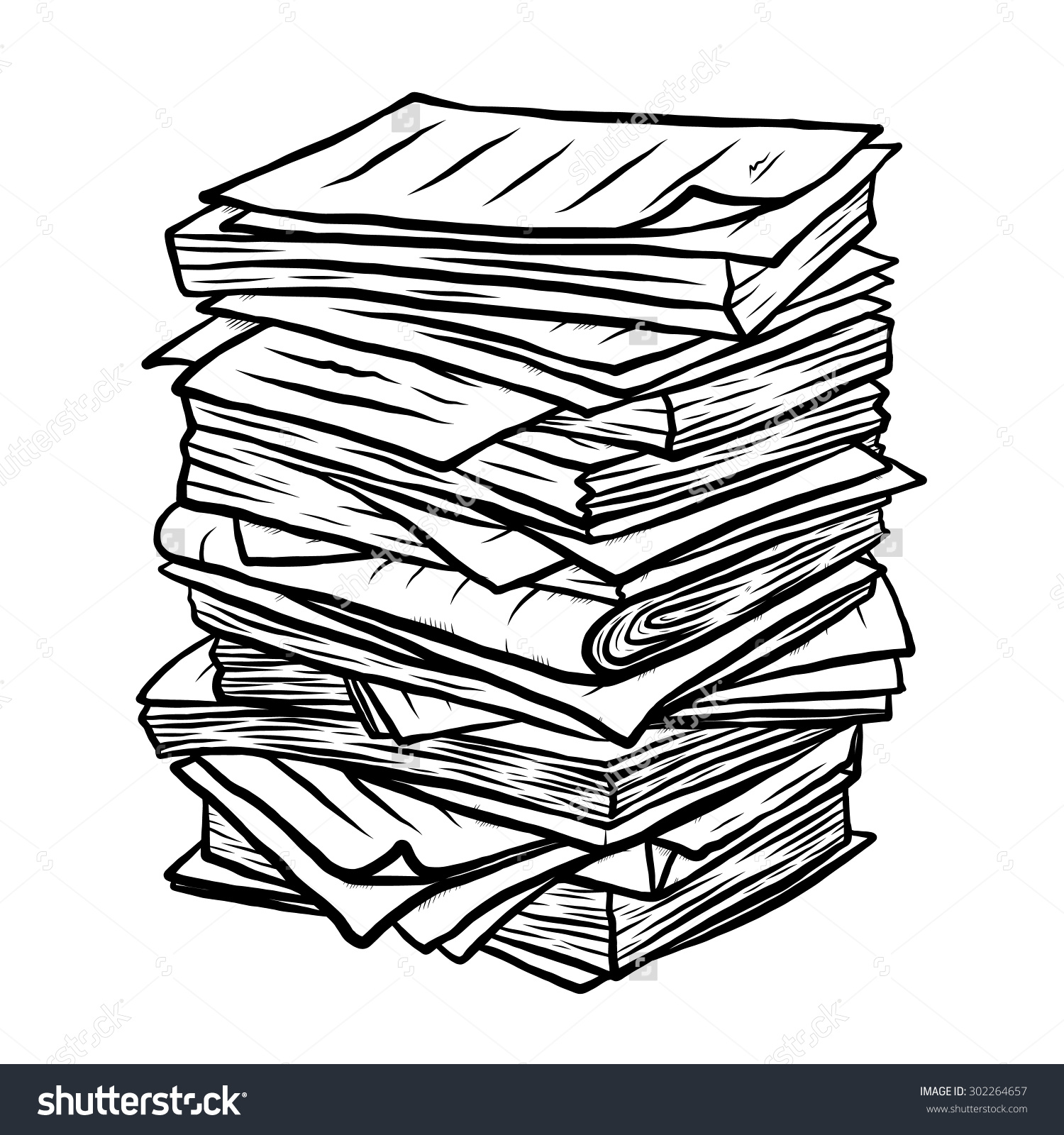 messy papers clipart - Clipground