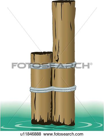 Clip Art of Pilings u11846888.