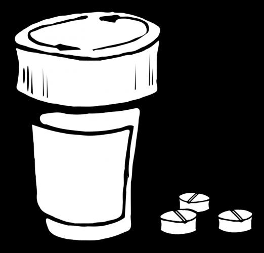 Pill Bottle Clipart.