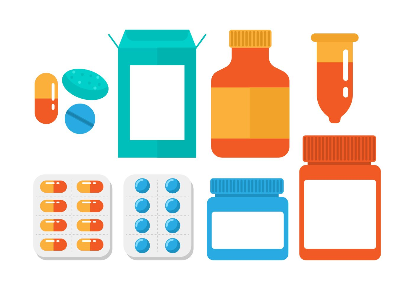 Free Pill Box Vector.