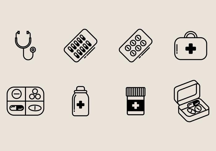 Pill Box Icon.