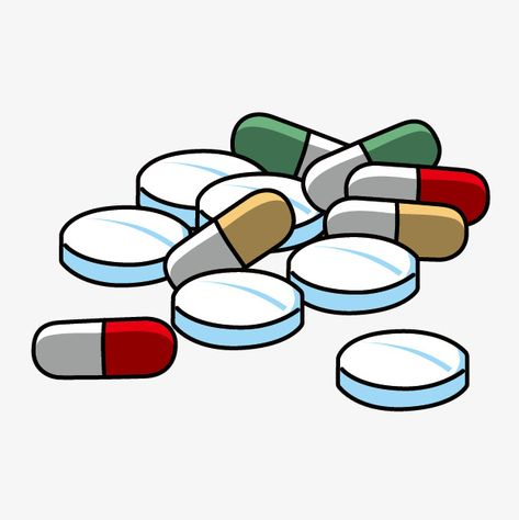 Cartoon Capsule, Cartoon Clipart, Cartoon Pills PNG.