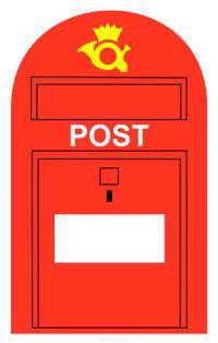 Post Box Clipart.
