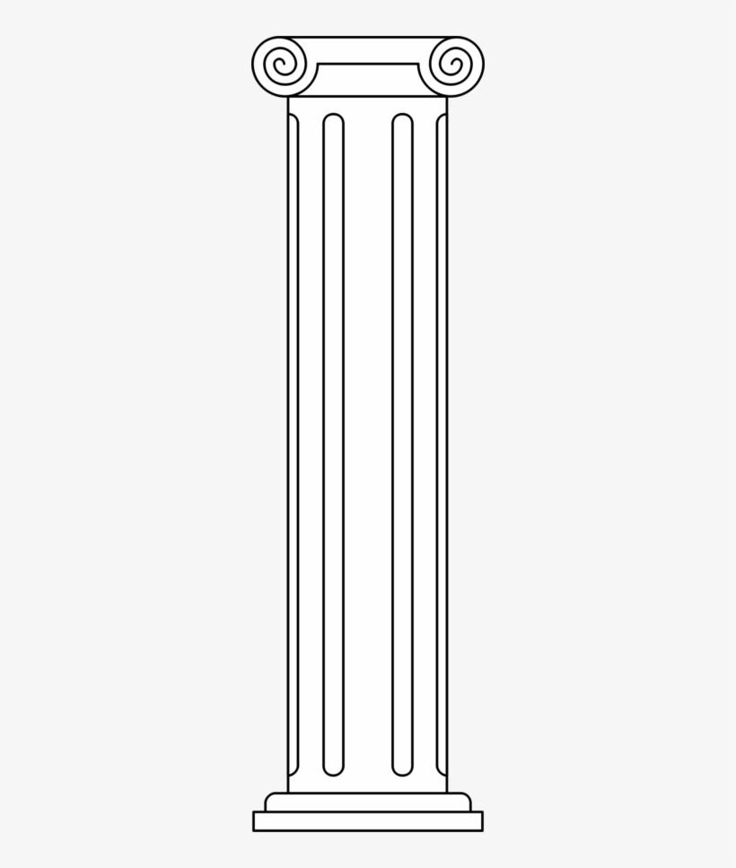 Doric Column Clipart.