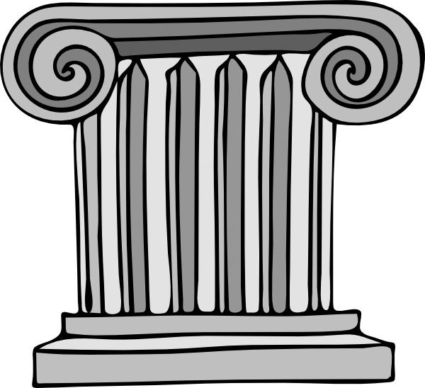 Short Pillar clip art Free vector in Open office drawing svg.
