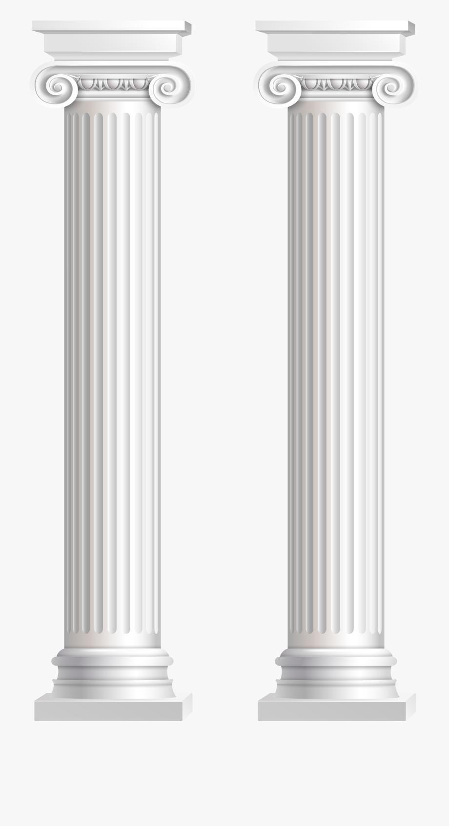 Pillars Transparent Png Clip Art Image.