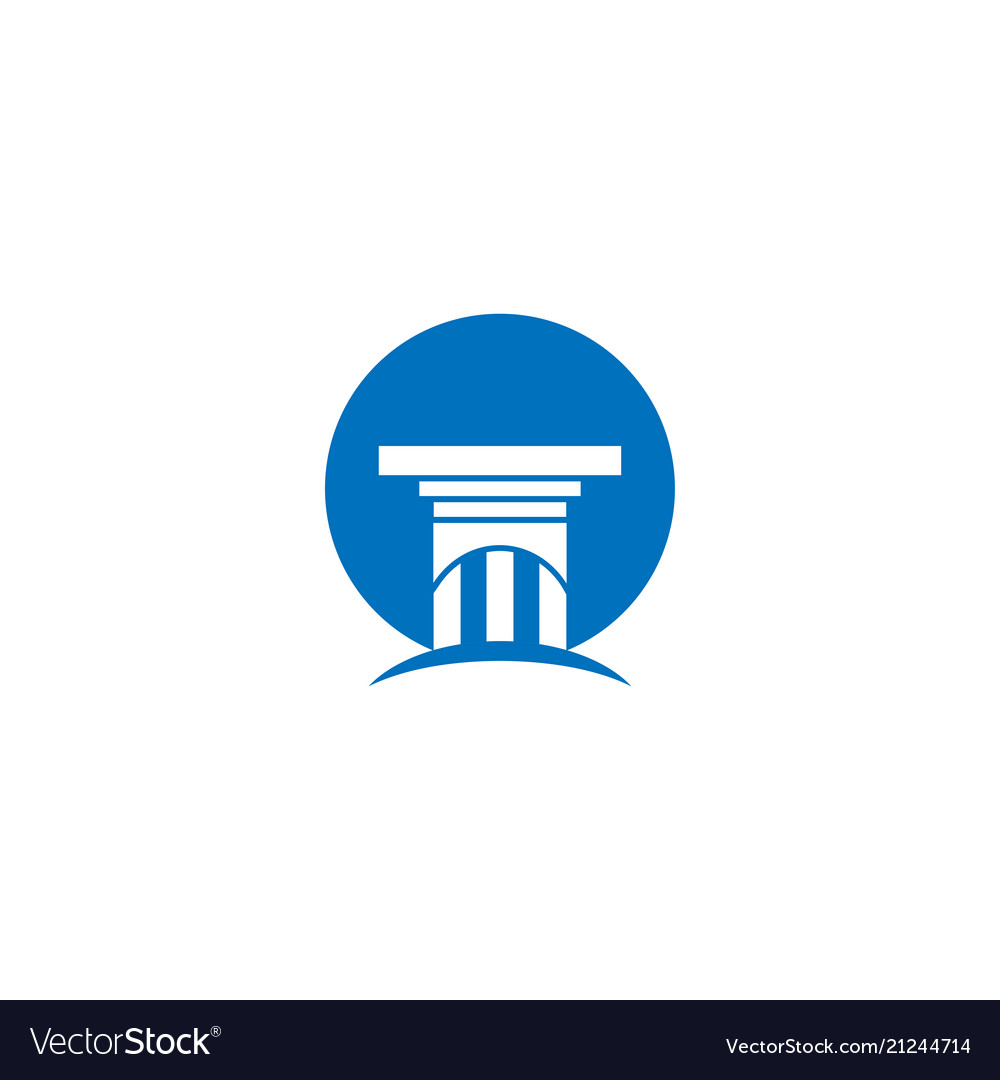 Attorney at law pillar logo and icon template.