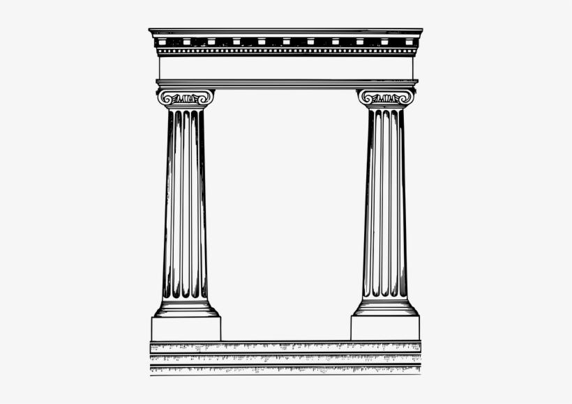 Roman Pillars Png.