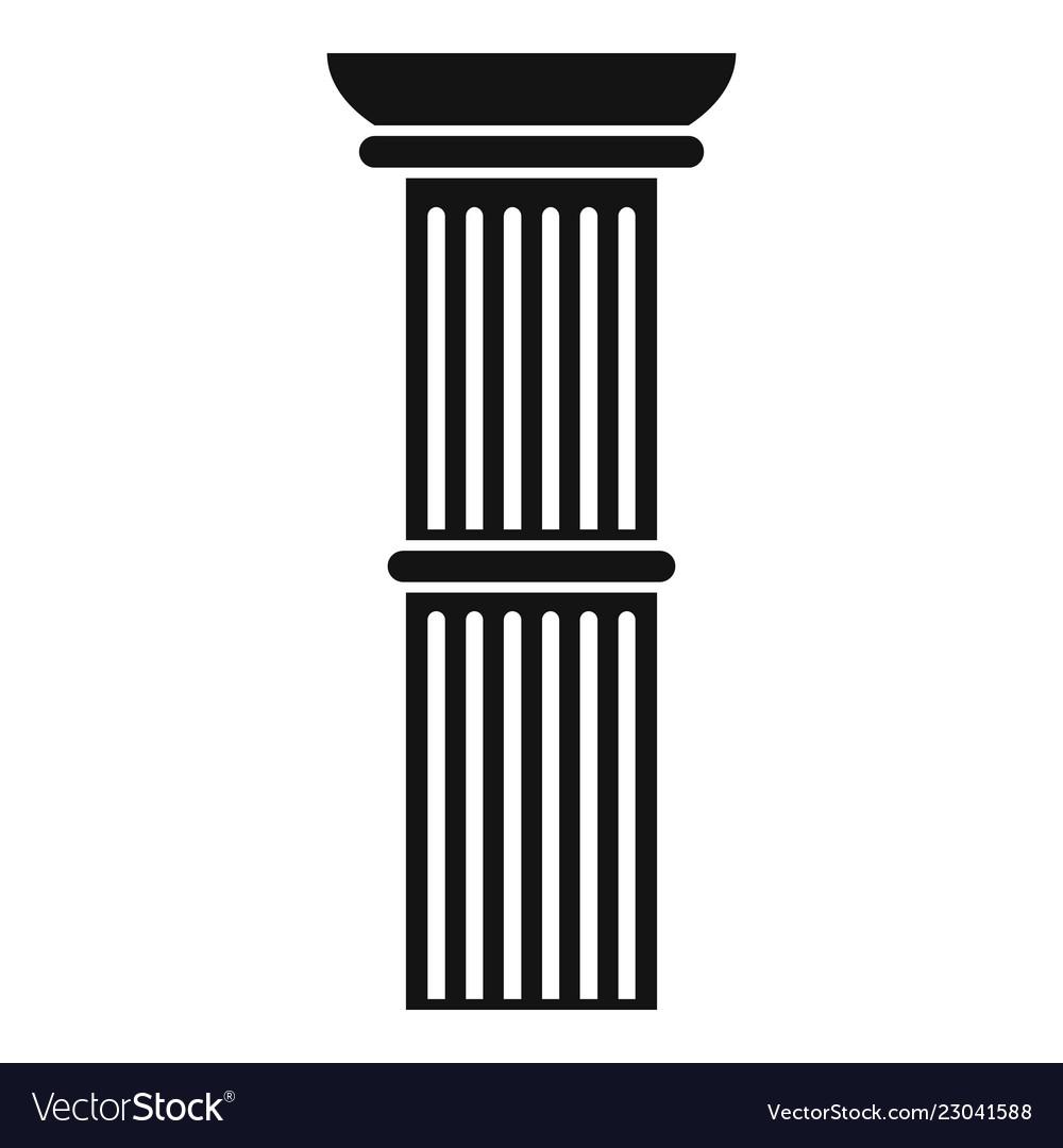 Pillar icon simple style.