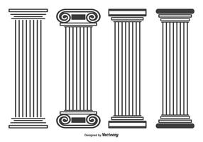 Roman Pillar Free Vector Art.