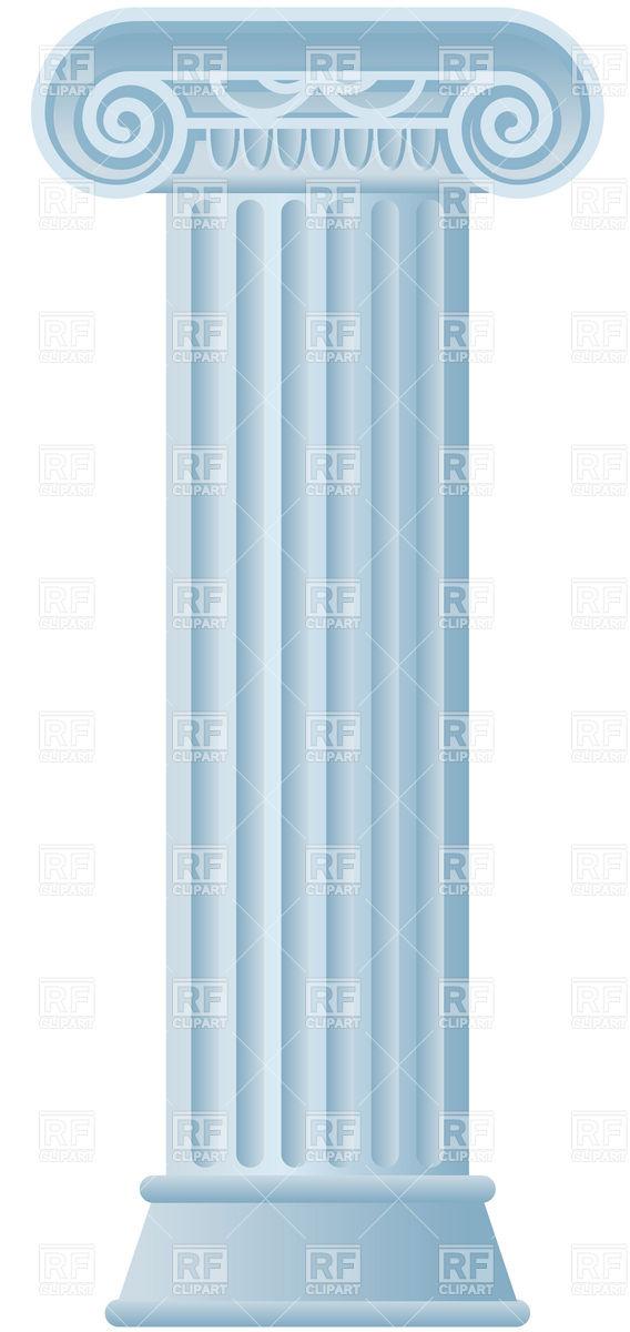 Roman Pillars Clipart.