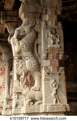 Picture of Stone Pillar Carving k10159717.