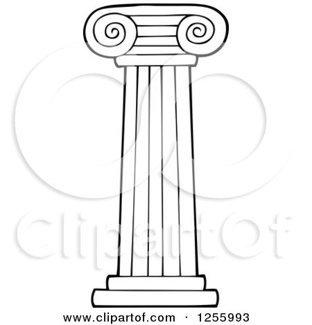 Clipart of a Greek Pillar Column.