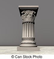 Clip Art of Stone column.