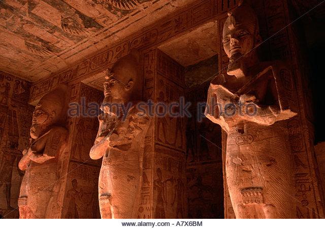 Abu Simbel Great Temple Interior Stock Photos & Abu Simbel Great.