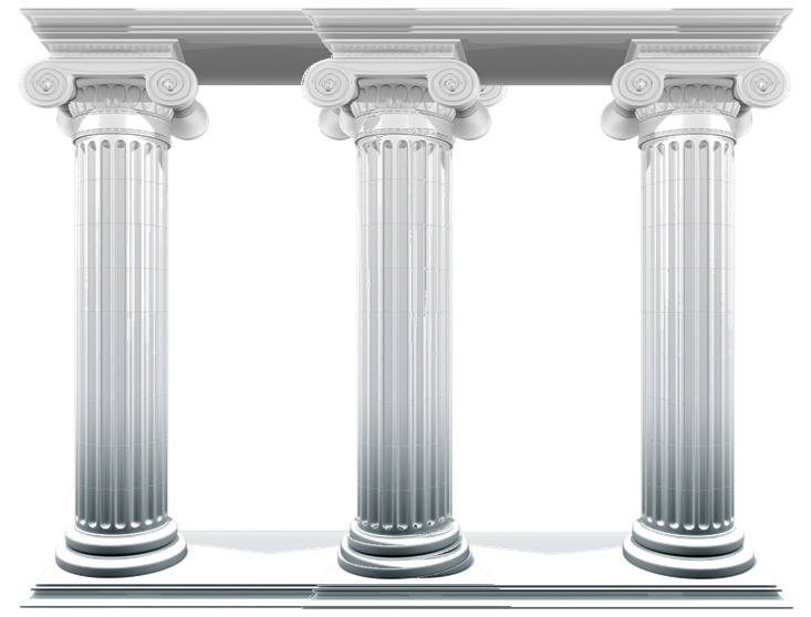 Four Pillars Clipart.