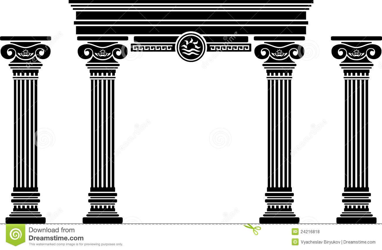 5 pillars clip art.