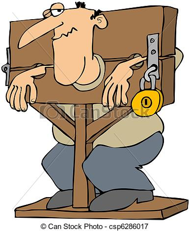 Pillory Clip Art and Stock Illustrations. 21 Pillory EPS.