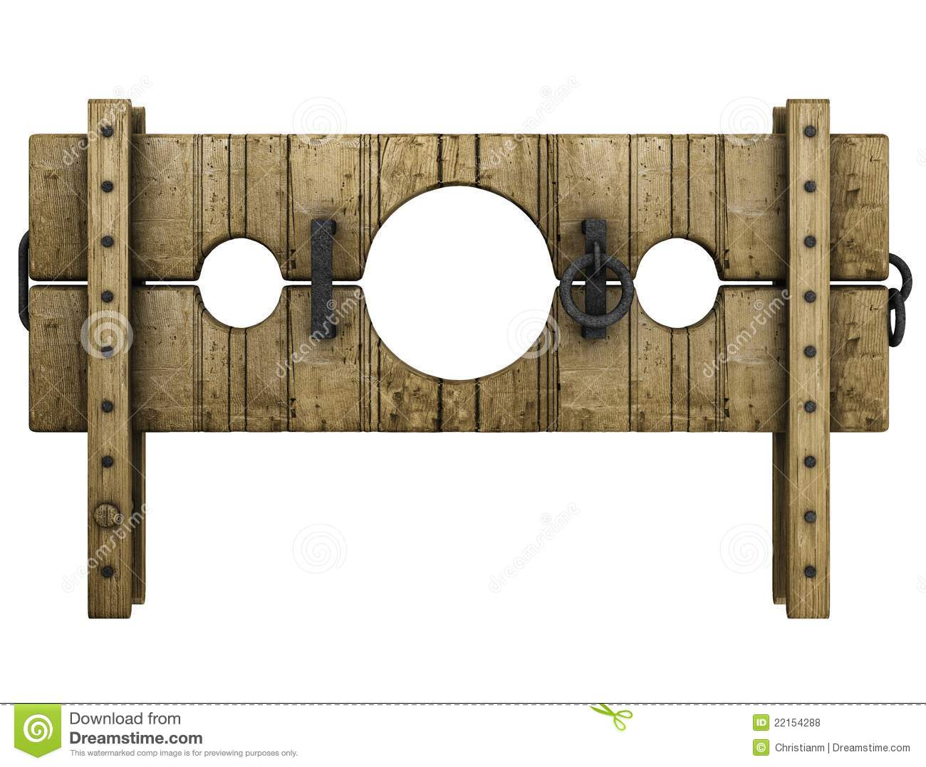 Medieval Pillory Punishment Device Royalty Free Stock Photos.