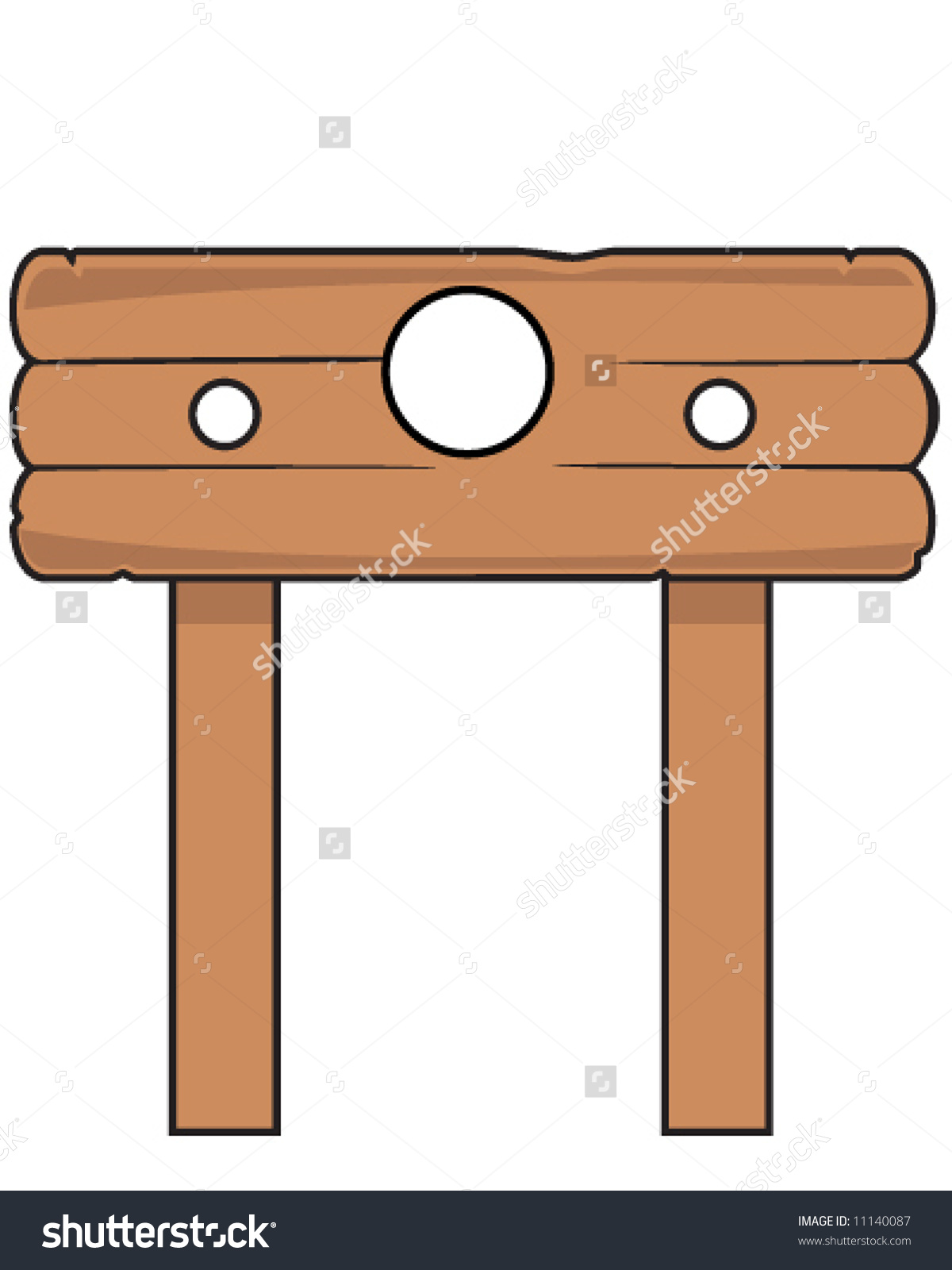 Vector Pillory Stocks Good Photo Albums Stock Vector 11140087.