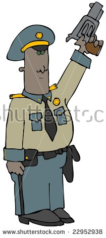 Clipart Illustration Man Woman Sheriff Stock Illustration 408355.
