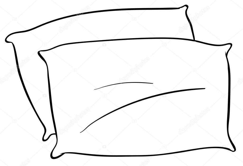 Black and white clipart pillow 1 » Clipart Portal.