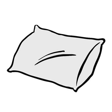 Clip Art Black And White Pillow.
