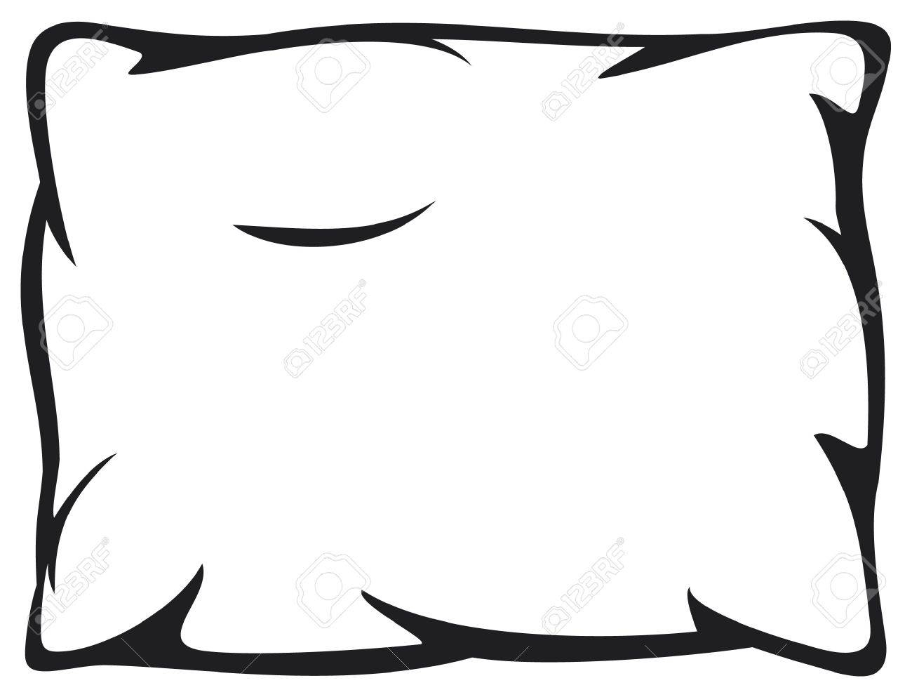 Clipart black and white pillow 6 » Clipart Station.