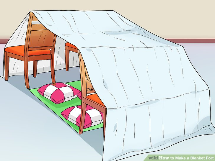 The Easiest Way to Make a Blanket Fort.