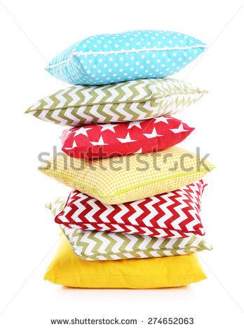 Stack Of Pillows Stock Photos, Royalty.