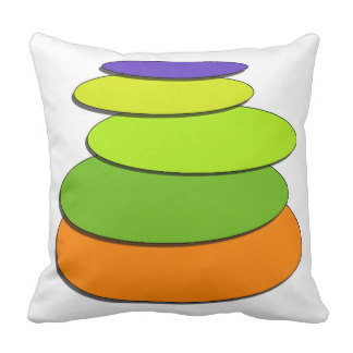 Stacked Pillows.