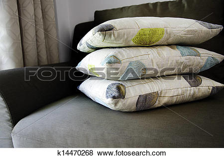 Pictures of Pillows stacked. k14470268.