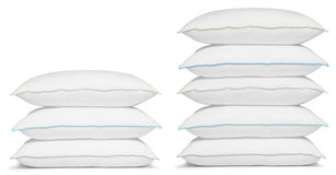 Pillow Stack Stock Photo.