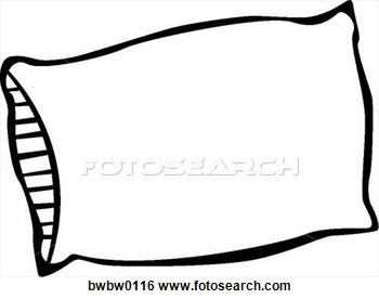 Clipart with pillowcase over head.