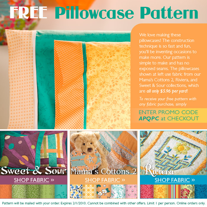 FREE Connecting Threads Pillow Case Pattern.