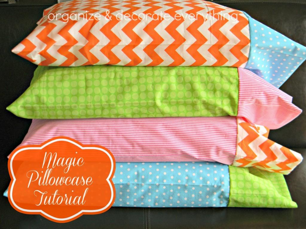 Brighten up for spring/summer! Pillowcase Tutorial by Organize.