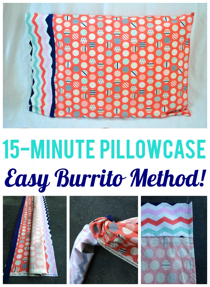 How to Make a Pillowcase in 15 Minutes With the Burrito Method.