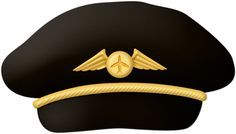 24 Awesome pilot hat clipart.