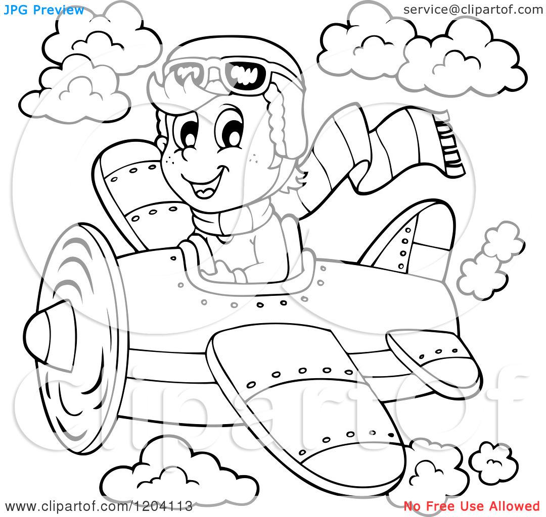 pilot clipart black and white #19