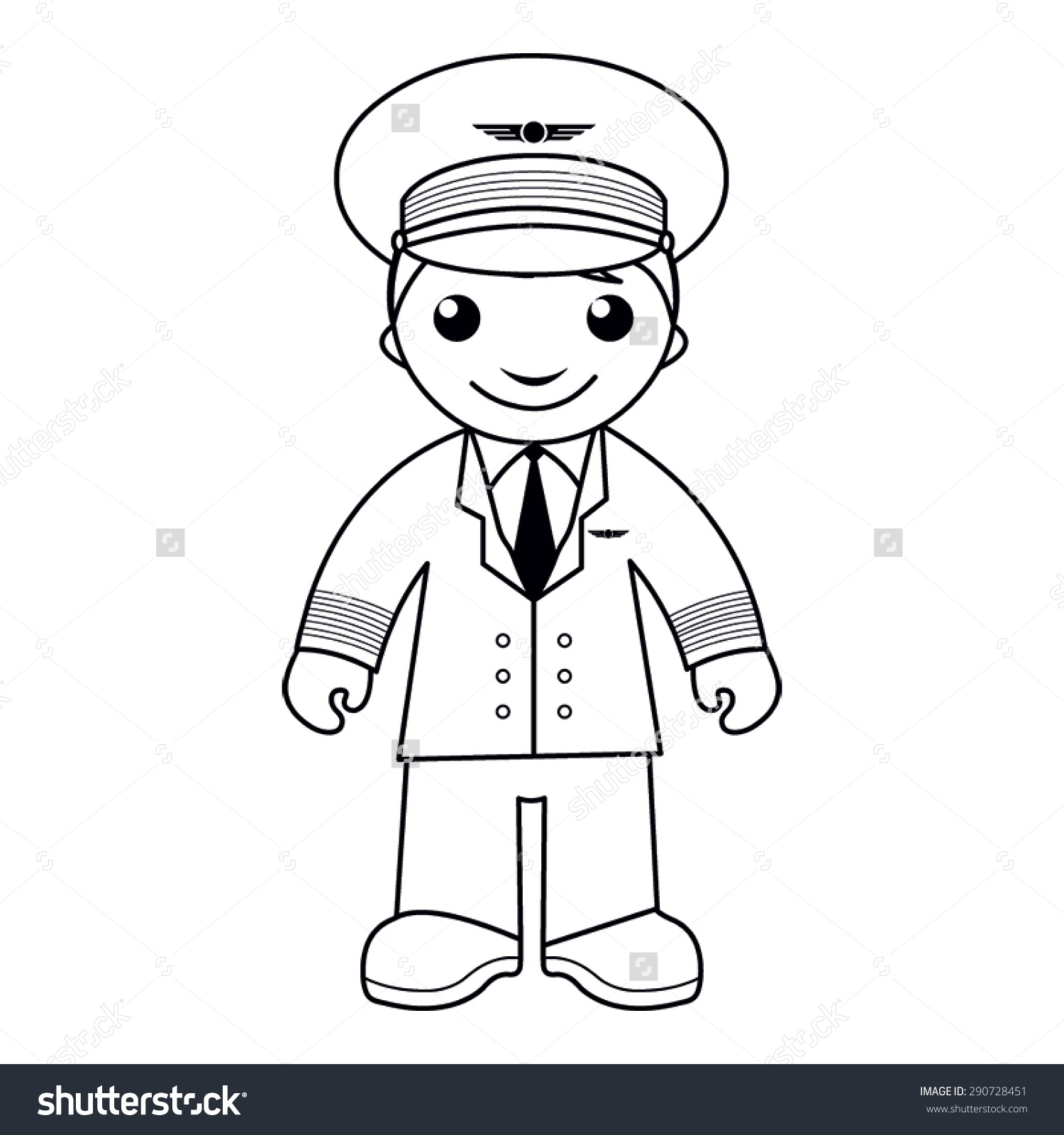 Pilot Clipart Black And White.