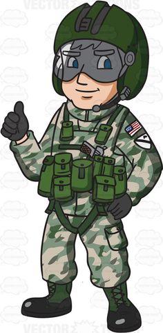 Military Pilot Clipart.