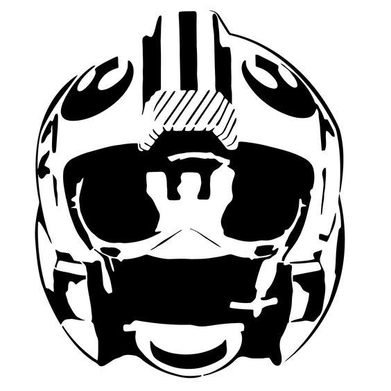 Alliance fighter pilot helmet stencil template.