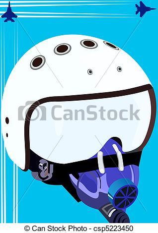 Vector Clipart of Pilot helmet.