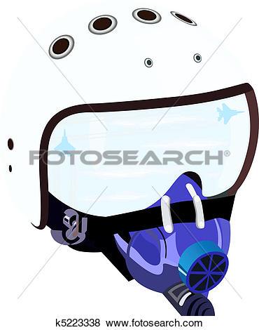 Clip Art of Helm of a fighter pilot k5223338.