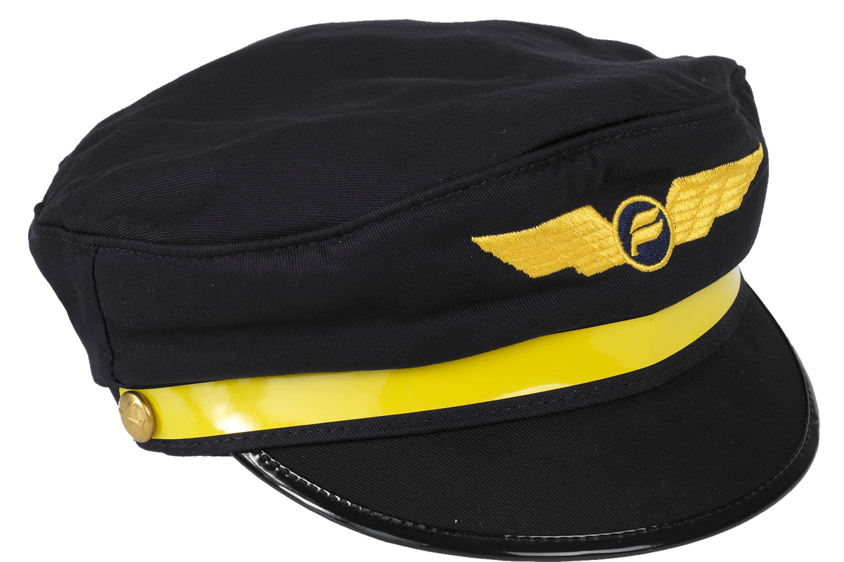 Pilot hats for kids with Icelandair logo.
